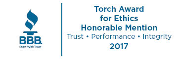 BBB Torch Award for Ethics Honorable Mention